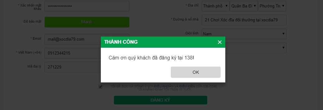 huong dan dang ky tai khoan choi xoc dia online tren 138bet 3
